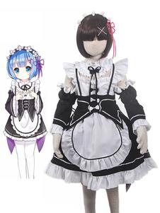 Re Zero Начало жизни в другом мире Rem Halloween Cosplay Costume для детей