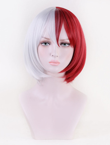 Carnevale Boko No Hero Accademia Shoto Todoroki Girl Version Cosplay Parrucca BNHA My Hero Academia Cosplay Wig