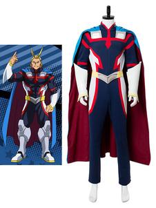 Boku No Hero Academia BNHA All Might Halloween Cosplay Costume Zentai Suit Deluxe Edition