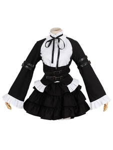 Fairy Tail Elza Scarlet Maid Versão Halloween Cosplay