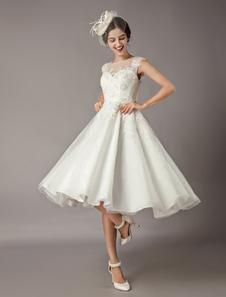 Свадебные платья с короткими кружевами