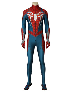 Carnevale Marvel  's Spider Man PS4 versione del gioco Costume cosplay di Halloween Zentai Suit