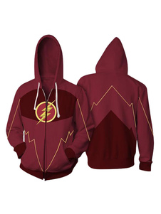 Carnevale DC Comics La felpa con cappuccio per Halloween Cosplay Flash Barry Allen