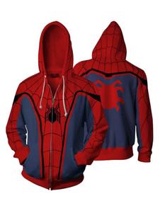 Carnevale Felpa con cappuccio Marvel Comics Spider Man Halloween Cosplay