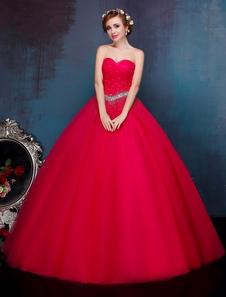 Princesa Quinceanera Vestidos Pastel Azul Luxo Strapless frisada Maxi Mulheres Pageant Dress