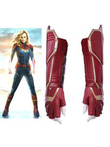 Carnevale Captain Marvel 2020 Il film Carol Danvers Halloween Cosplay Guanti e Polsino Solo Guanti e Polsini