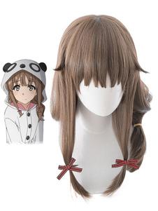 Seishun Buta Yarou Azusagawa Kaede Halloween Cosplay Wig Aobuta Rascal не мечтает о кроличьей девушке Senpai Halloween Cosplay Wig Хэллоуин