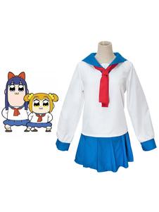 Costume Carnevale Uniforme della ragazza della scuola del costume di Halloween di Pop Team Epic Popuko Pipimi