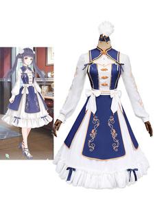 عيد الرعبالحب نيكي نيكي تأثيري لعبة أنيمي الأميرة لوليتا اللباس تشى لوليتا اللباس