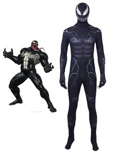 Carnaval Venom Eddie Brock Halloween Disfraz de Cosplay Zentai Traje Con Capucha 2020