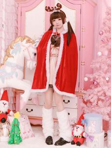 عيد الرعبعيد الميلاد زي زي أحمر سانتا كلوز يرفع