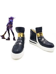 Лига Легенд LOL KDA Акали Хэллоуин Косплей Обувь