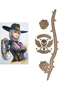 Overwatch Ow Ashe Halloween Косплей Временные татуировки