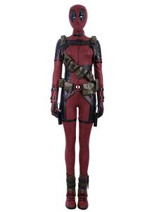 Carnaval Disfraz de cosplay Halloween Deadpool versión femenina