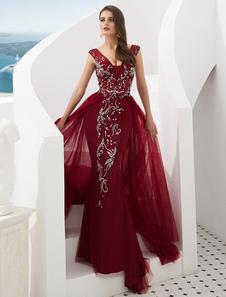 Вечерние платья Формальное Вечернее платье с V-образным вырезом и V-образным вырезом