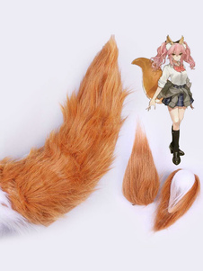 Carnaval Fate Grand Order FGO Tamamo No Mae School Girl Versión Uniforme Halloween Cosplay Tail Cosplay Prop