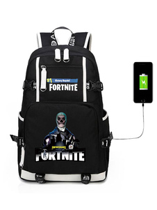 Carnevale Fortnite Backpack For Boys Gioco Battle Royale Cool School Bag Camping Hiking Halloween