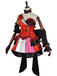 Дата в прямом эфире Токисаки Куруми Хэллоуин Косплей Костюм Идол Лолита версия платья