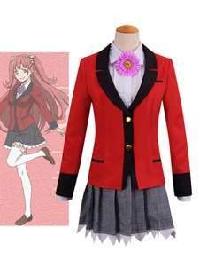 Costume Carnevale Kakegurui Compulsive Gambler Yumemite Yumemi Halloween Costume Cosplay School Girl Uniform Anime Version