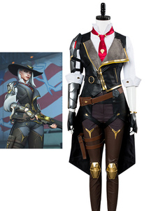 Carnevale Costume Cosplay di Giochi 2020 Overwatch Ow Ashe Hallowen Costume Cosplay Halloween