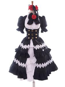 Date A Live Tokisaki Kurumi Хэллоуин Косплей Костюм Готическая Лолита Платье 5 Лет назад Версия