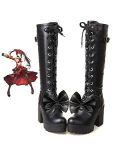 عيد الرعبتاريخ لايف Tokisaki كرامي هالوين تأثيري أحذية القوطية لوليتا اللباس الإصدار