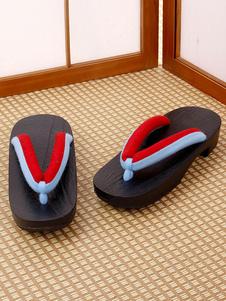 Carnaval Zapatos de cosplay japoneses Zueco de Halloween para Kimono