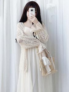 Sweet Lolita Cardigan Lace Bow Plissado Damasco Lolita Primavera Top