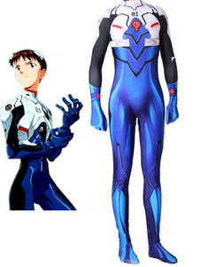 Costume Carnevale New Genesis Evangelion Blue Jumpsuit Set Costumi per adulti di Genesis Evangelion per adulti  Costume Carnevale