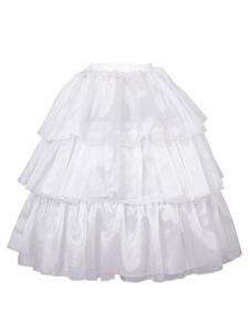 Lolita clássico anáguas Organza Ruffles branco Lolita acessórios
