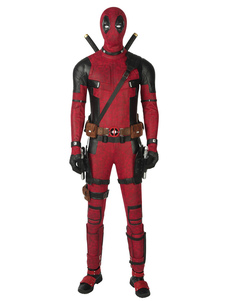 Comics Americanos 2020 Cosplay Deadpool 2 Wade Wilson Traje Borgonha Suede Cosplay Zentai Suit (sem Sapatos) Halloween