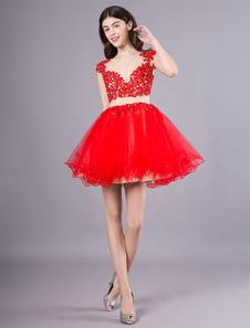 Vestido curto do baile de finalistas do laço vestido de baile do tutu do laço mini vestido da graduação