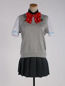 Disfraz Carnaval ¡Gratis! Go Matsuoka Summer Uniform TV Drama Gris 4r piezas Cosplay Halloween Carnaval