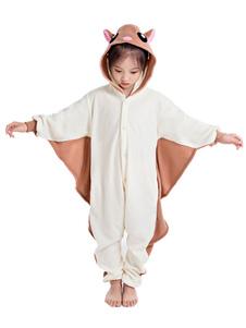 Disfraz Carnaval Kigurumi Pijama para niños 2020 Fflying ardilla Franela Unisey Easy Toilet Monos Halloween Carnaval