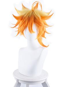 Carnevale La promessa Neverland Cosplay giapponese Anime Orange Short Emma Cosplay Wig Halloween