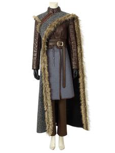 Troféu De Tv Game Of Thrones Temporada 8 Traje Cosplay Got Arya Stark Cinza 7 Peças Cosplay Set 2020 Halloween