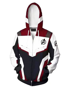 Carnevale Felpa con cappuccio con stampa di anime bianche Set Avengers 4 Endgame Quantum Armor Halloween