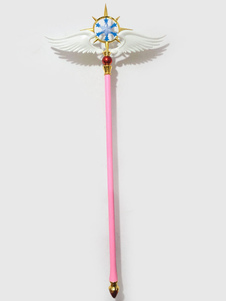 Carnevale Cardcaptor Sakura Cosplay Clear Card Kinomoto Sakura Pink Magic Wand Halloween