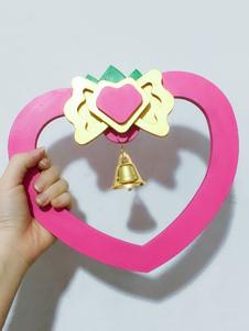 Carnaval Tokyo Mew Mew Cosplay Mew Strawberry Momomiya Ichigo Pink Cosplay campana anillo Halloween