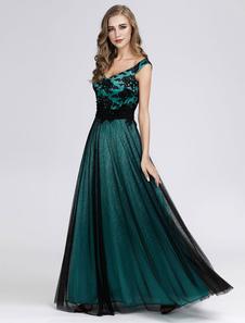 Платье выпускного вечера 2020 Тюль без рукавов Длина пола Выпускные Свадебные платья для мам