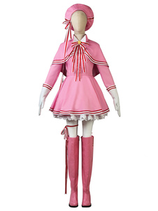 Costume Carnevale Set di costumi cosplay Cardcaptor Sakura Kinomoto Sakura Transparent Card Edition
