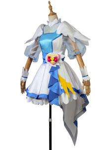 Disfraz Carnaval Pretty Cure Cosplay blanco Yakushiji Saaya vestido de satén mate Carnaval