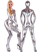 Anime Costumes AF-S2-4205 Halloween Sexy Shiny Silver Spandex Catsuit