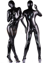 Anime Costumes AF-S2-4200 Wet Shiny Black Catsuit Halloween Full Bodysuit Costume
