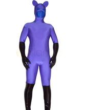 Anime Costumes AF-S2-1306 Purple Blue Spandex Unisex Zentai Catsuit