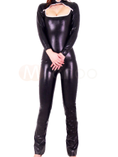 Anime Costumes AF-S2-3524 Halloween Shiny Metallic Catsuit with Hollow Bust