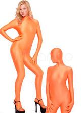 Halloween Morph Suit Orange Lycra Spandex Catsuit