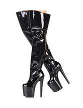 7 3 / 4''Высокий каблук Black Boots платформы патентной