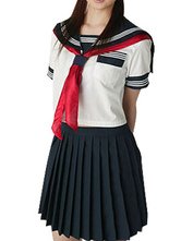 Anime Costumes AF-S2-12929 Short Sleeves Sailor School Uniform Cosplay Costume