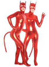 Anime Costumes AF-S2-1317 Halloween Sexy Red Devil Catsuit with Mouth and Eyes Opened Costume Cosplay
